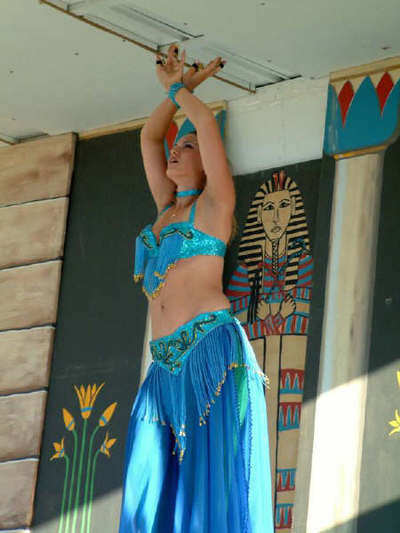 Suzanna as a baby belly dancer in Mediterranean Fantasy Festival.