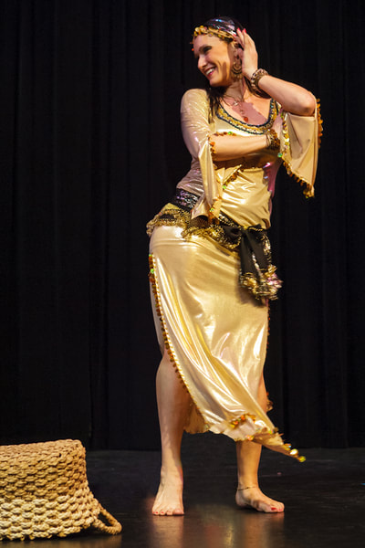 "Suzanna in ""Amira's Belly Dance Spectacular."""